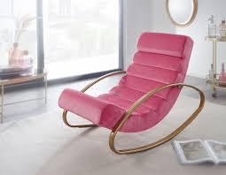 relaxliege samt rosé gold 110 kg belastbar relaxsessel 61x81x111 cm design schaukelstuhl innenbereich schwingstuhl lounge liege modern
