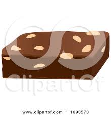 Clipart Chocolate Nut Brownie Royalty Free Vector Illustration By Abhutn Clipart