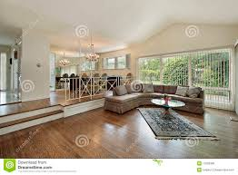 100 Split Level Living Room Ideas And Dining In Home Stock Photo
