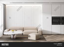 Modern White Kitchen Interior 3d Rendering Stockfoto Und Modern Disign White Image Photo Free Trial Bigstock