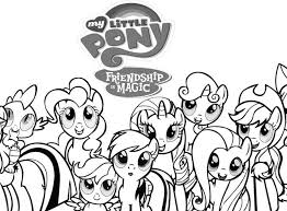 My Little Pony Printable Coloring Sheets Pages For Kids