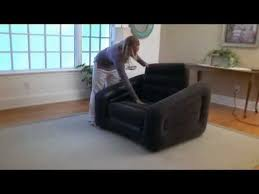 Intex Inflatable Pull Out Sofa by Intex Inflatable One Person Chair Sofa Bed In Action
