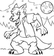 Download Monster Spooky Halloween Coloring Pages For Kids Hallowen