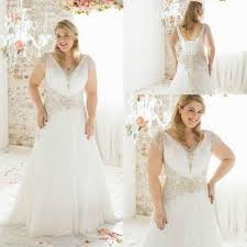 2015 spring plus size wedding dresses with cap sleeves sheer ivory
