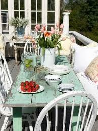 shabby chic garden furniture nice table Hickory Dickory Decks