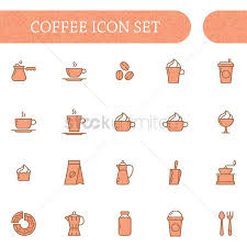 1996634 Ground Coffee Set Of Icons