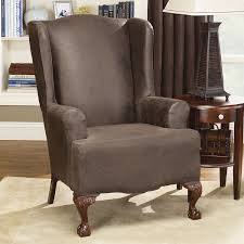 wing chair recliner slipcovers bedroom exciting sure fit stretch leather wing chair recliner