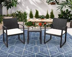 Patiocean 3pc Black Rocker Wicker Chair Set With Steel Blue Cushion Buy Stackable 2 Seater Rattan Outdoor Patio Blackgrey Bargainpluscomau Best Choice Products 4pc Garden Fniture Sofa 4piece Chairs Table Garden Fniture Set Lissabon 61 With Protective Cover Blackbrown Temani Amazonia Atlantic 2piece Bradley Synthetic Armchair Light Grey Cushions Msoon In Trendy For Ding Fabric Tasures Folding Chairrattan Chairhigh Back Product Intertional Caravan Barcelona Square Of Six
