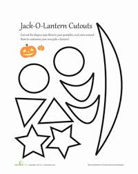 Pumpkin Carving Cutouts by Pumpkin Carving Patterns Worksheet Education Com