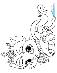 Palace Pets Coloring Pages Throughout Princess Puppy