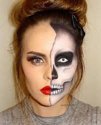 Halloween Half Mask Makeup by 23 Cool Skeleton Makeup Ideas To Try For Halloween Skeleton
