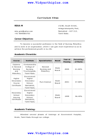 Diploma In General Nursing And Midwifery Resume Format Sample