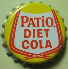 patio diet cola cork lined soda crown bottle cap pepsi cola c
