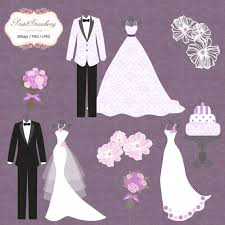 Purple Wedding Dress Clipart Luxury wedding dress tuxedo purple personal or small
