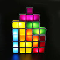 Tetris Stackable Led Desk Light by Tetris Pieces Game Stackable Led Magic Desk Light Lamp Diy