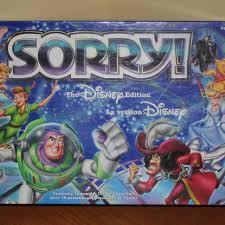 DISNEY SORRY BOARD GAME