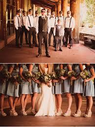 Wedding In Photos Rustic Bridal Party California Mountains The