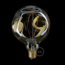 golden light bulb globe g125 single filament with irregular