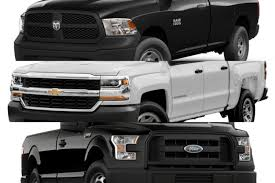 Ace Of Base: Detroit's Half-Ton Work Trucks - The Truth About Cars 2018 Chevrolet Silverado 1500 Vs Ford F150 Ram Big Three 3ton Grip Truck Grhead Production Rentals Crash Tests 2016 Pickup Truck Tundra Youtube 12ton Shootout 5 Trucks Days 1 Winner Medium Duty Truck Comparison Chart Dolapmagnetbandco 1945 Dodge Halfton Article William Horton Photography 2012 Chevy Interior Chevy Silverado 2500hd Heaps On The Best Buying Guide Consumer Reports Poll Whats Looking New From What Does Threequarterton Oneton Mean When Talking 2019 Specs Comparison The Nissan Titan 4x4 Pro4x