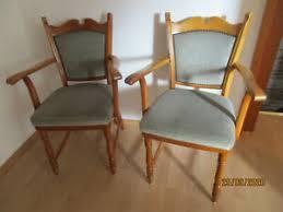 2 holz stühle für esszimmer wohnzimmer mit polster erle