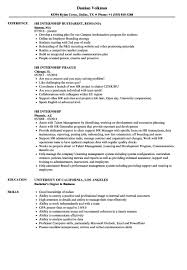 Hr Intern Resume Sample Internship - Hr Intern Resume ...