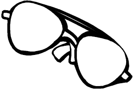 Eyeglasses For Bright Light Colouring Page