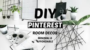 Pinterest Room Decor Diy by Diy Pinterest Room Decor Minimal And Affordable 2016 Youtube