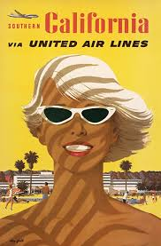 United Air Lines Southern California Vintage Travel Poster By Stan Galli