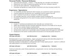Resume Bullet Points Examples Sample New Personal Attributes Without