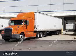 100 Semi Truck Pictures Orange By Door Warehouse Stock Photo Edit Now 186338024