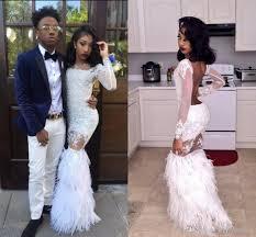 2k17 white mermaid prom dresses black african girls party