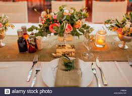 Flower Compositions On The Wedding Table In Rustic Style Decorations With Their Own Hands