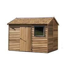 the cedar shed 2 5 x 3 0m montrose shingle roof bunnings warehouse