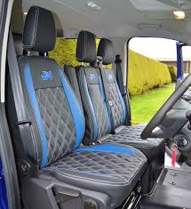 Ford Transit Custom Waterproof Tailored Van Seat Cover With Diamond ...