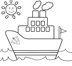 Ship Coloring Page For Kids