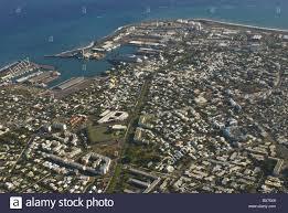 le port la reunion aerial view of le port la reunion indian africa stock