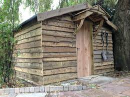pallet shed extension with waney edge cladding unexpected from