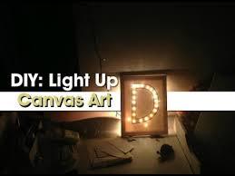 Gift Idea DIY Light Up Canvas Art