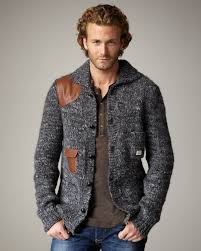 diesel k mirtil cardigan in gray for men lyst