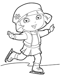 Dora Coloring Pages For Girls