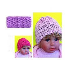 Amazoncom Baby Girl Crochet Beanies Headbands Gift Bundle Ages 0