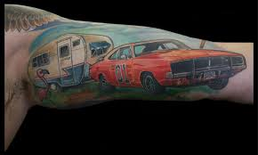 General Lee Inspired Tattoo By Matt Driscoll Tattoos
