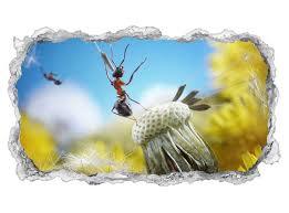 3d wandtattoo ameisen fliegen pusteblume insekten blume tapete wand aufkleber wanddurchbruch sticker selbstklebend wandbild wandsticker wohnzimmer