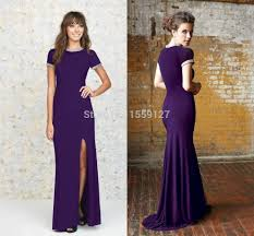 compare prices on purple short front evening dress online