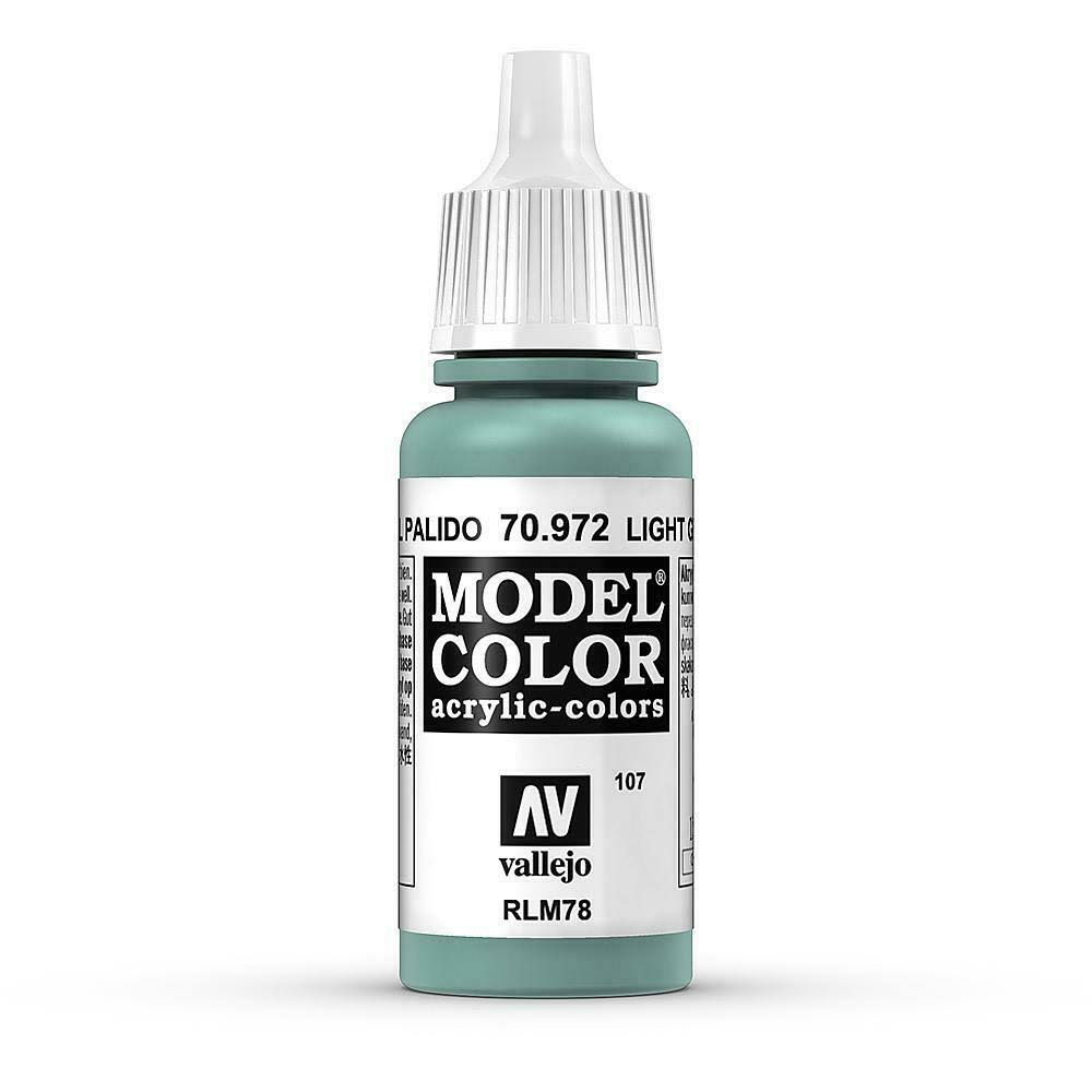 Vallejo Model Color Acrylic Paint - 17ml, Light Green Blue