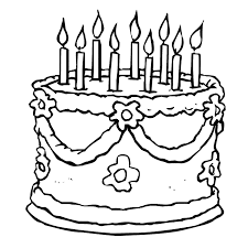 Nice Birthday Cake Coloring Pages Printable Cool Colorings Book Design Ideas