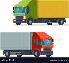 100 Logistics Trucking Truck Lorry Icon Or Symbol Delivery Logistics Vector Image