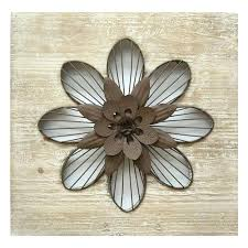 Metal Flower Wall Decor Home Rustic Large