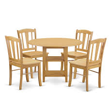 East West Furniture SUDL5-OAK-W 5 Piece Sudbury Set With One Round Dinette  Table And Four Dinette Chairs With Wood Seat In A Rich Oak Finish., Wood ... Sunset Trading Co Selections Round Dinette Table Winners Only Quails Run 5 Piece Pedestal And 42 Ding With 4 Side Chairs Shown In Rustic Hickory Brown Maple An Asbury Finish Oak Set Rustica 54 W What I Want For My Kitchena Small Round Pedestal Table Archivist Crown Mark Camelia Espresso Glass Top Family Wood Kitchen Room Breakfast Fniture Modern Unique Sets Design Models New Traditional Cophagen 3piece Cinnamon