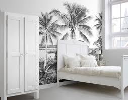 fototapete landschaft mit palmen schwarz weiß